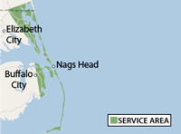 Our Outer Banks Service Area